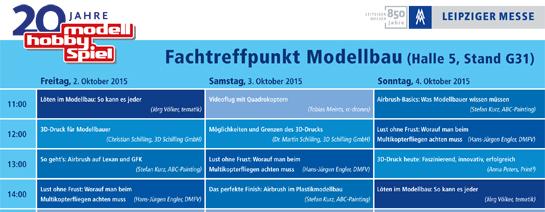 Fachtreffpunkt Modellbau in Leipzig